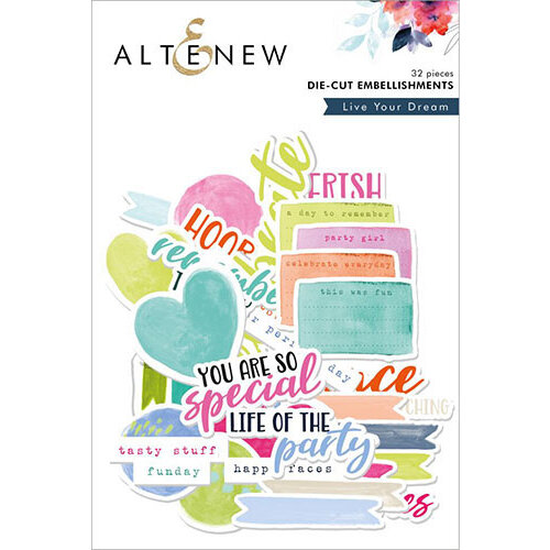 Altenew - Live Your Dream - Die Cut Cardstock Pieces