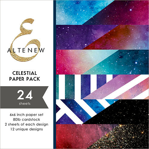Altenew - Celestial - 6 x 6 Paper Pack - 24 Sheets