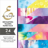 Altenew - Enchanting Washes - 6 x 6 Paper Pack - 24 Sheets