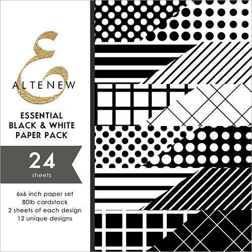 Altenew - Essential Black and White - 6 x 6 Paper Pack - 24 Sheets