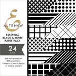 Altenew - Essential Black and White - 6 x 6 Paper Pack