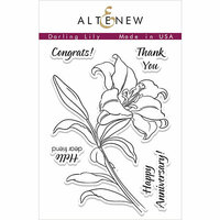 Altenew - Clear Photopolymer Stamps - Darling Lily