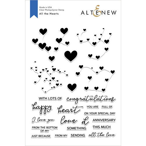 Altenew - Clear Photopolymer Stamps - All the Hearts