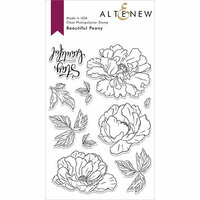Altenew - Clear Photopolymer Stamps - Beautiful Peony