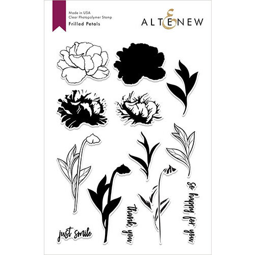 Altenew - Clear Photopolymer Stamps - Frilled Petals