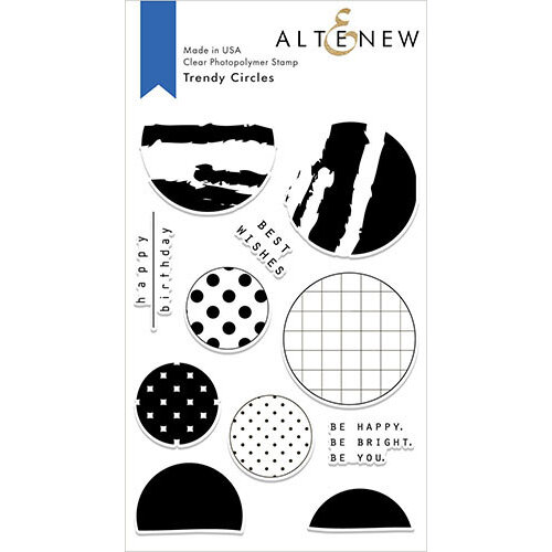 Altenew - Clear Photopolymer Stamps - Trendy Circles