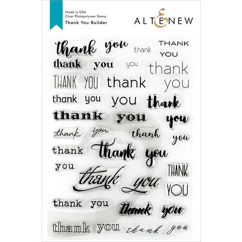 Altenew - Clear Photopolymer Stamps - Thank You Builder