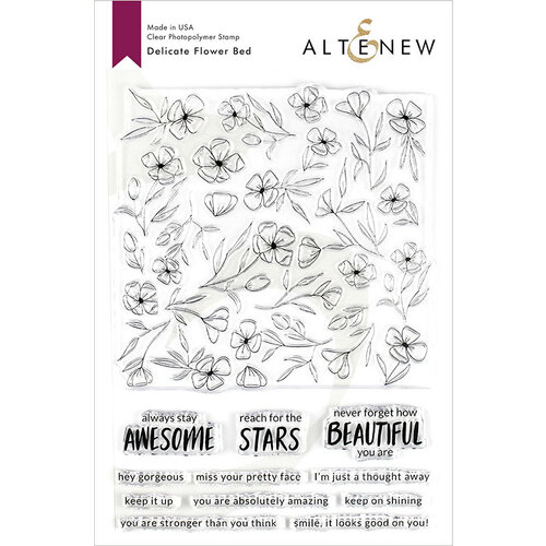 Altenew - Clear Photopolymer Stamps - Delicate Flower Bed
