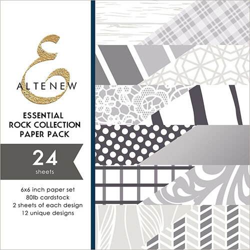Altenew - Essential Rock Collection - 6 x 6 Paper Pack