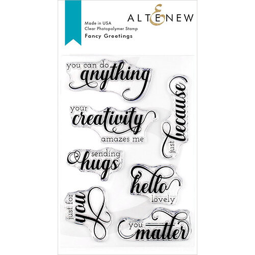 Altenew - Clear Photopolymer Stamps - Fancy Greetings