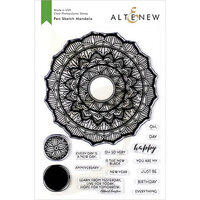 Altenew - Clear Photopolymer Stamps - Pen Sketch Mandala