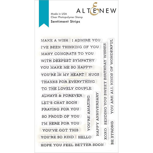 Altenew - Clear Photopolymer Stamps - Sentiment Strips