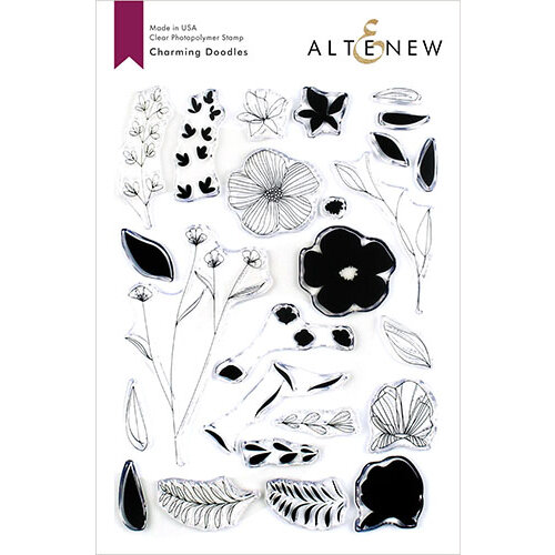 Altenew - Clear Photopolymer Stamps - Charming Doodles