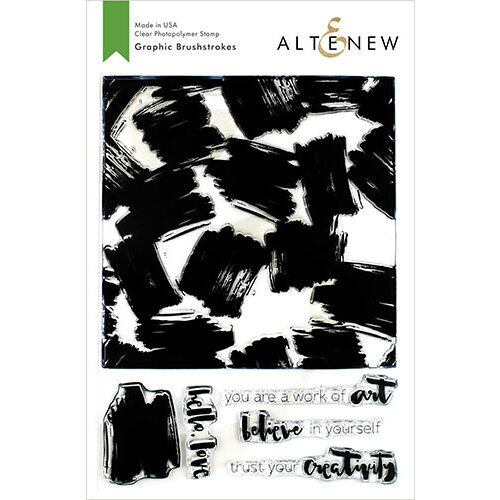 Altenew - Clear Photopolymer Stamps - Graphic Brushstrokes