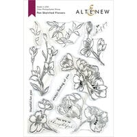 Altenew - Clear Photopolymer Stamps - Pen Sketched Flowers