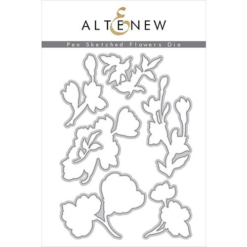 Altenew - Dies - Pen Sketched Flowers