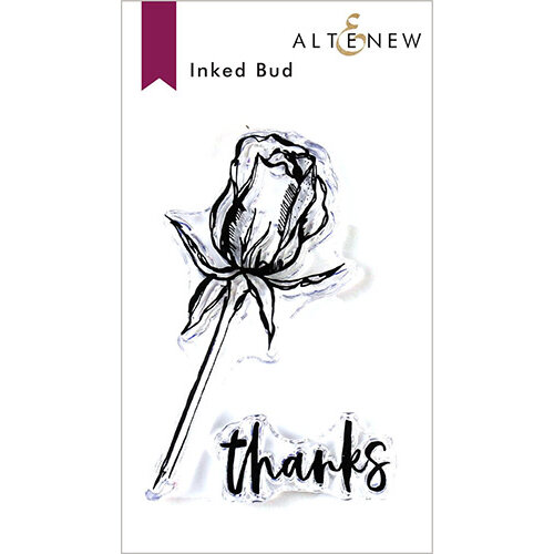 Altenew - Clear Photopolymer Stamps - Inked Bud