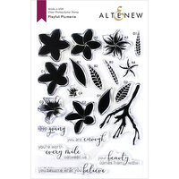 Altenew - Clear Photopolymer Stamps - Playful Plumeria