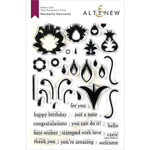 Altenew - Clear Photopolymer Stamps - Wonderful Wycinanki