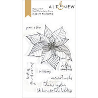 Altenew - Clear Photopolymer Stamps - Modern Poinsettia