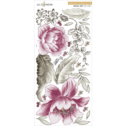 Altenew - Decal Set - Peonies In Blossom B