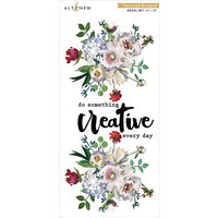 Altenew - Decal Set - Large - Textured Bouquet