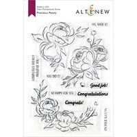 Altenew - Clear Photopolymer Stamps - Precious Peony