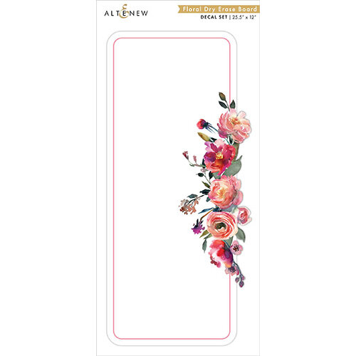Altenew - Decal Set - Floral Dry Erase Board