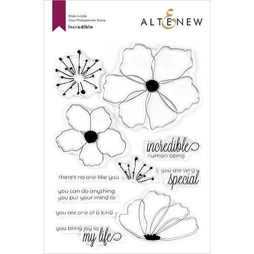 Altenew - Clear Photopolymer Stamps - Incredible