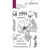 Altenew - Clear Photopolymer Stamps - Paint-A-Flower - Poppy