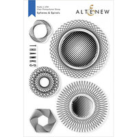 Altenew - Clear Photopolymer Stamps - Spheres and Spirals