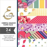 Altenew - Cheerful Meadow - 6 x 6 Paper Pack - 24 Sheets