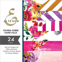 Altenew - Fuchsia Soiree - 6 x 6 Paper Pack - 24 Sheets