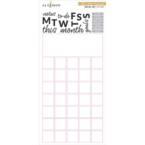 Altenew - Decal Set - Large - DIY Wall Planner