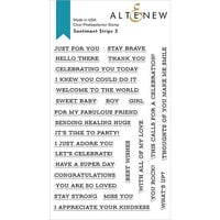 Altenew - Clear Photopolymer Stamps - Sentiment Strips 2