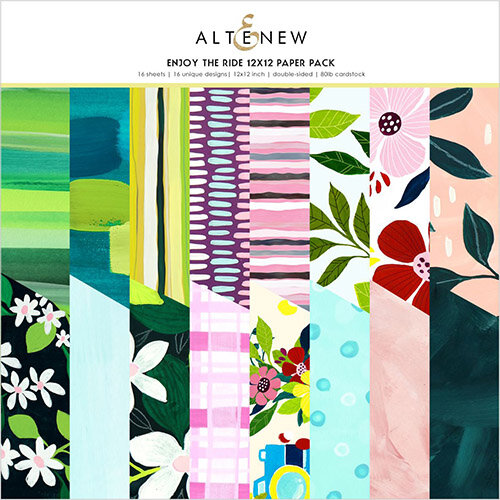 Altenew - Enjoy the Ride Collection - 12 x 12 Paper Pack