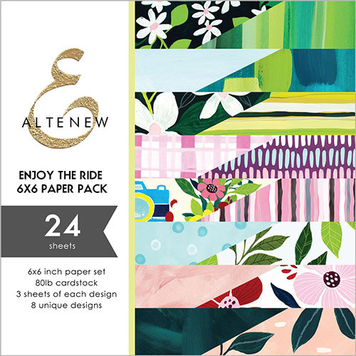 Altenew - Enjoy the Ride Collection - 6 x 6 Paper Pack - 24 Sheets