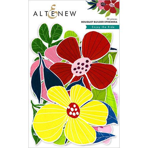 Altenew - Enjoy the Ride Collection - Die Cut Cardstock Pieces - Ephemera - Bouquet Builder