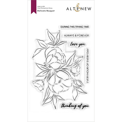 Altenew - Clear Photopolymer Stamps - Delicate Bouquet