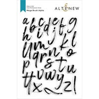 Altenew - Clear Photopolymer Stamps - Mega Brush Alpha