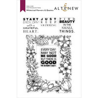 Altenew - Clear Photopolymer Stamps - Whimsical Flowers and Quotes