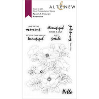 Altenew - Clear Photopolymer Stamps - Paint A Flower - Anemone