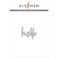 Altenew - Dies - Waterbrush Hello