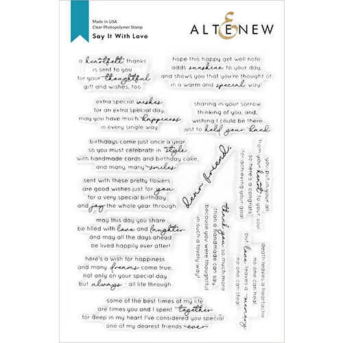 Altenew - Clear Photopolymer Stamps - Say It With Love