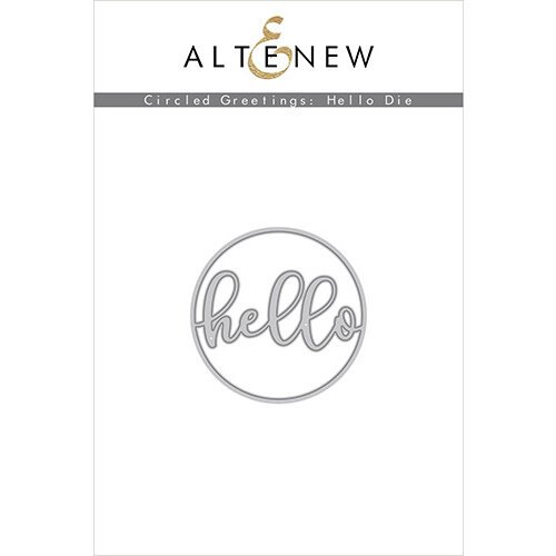 Altenew - Dies - Circled Greetings Hello