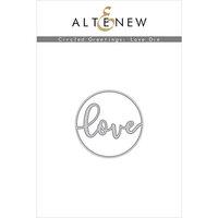 Altenew - Dies - Circled Greetings Love
