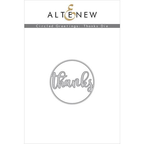 Altenew - Dies - Circled Greetings Thanks