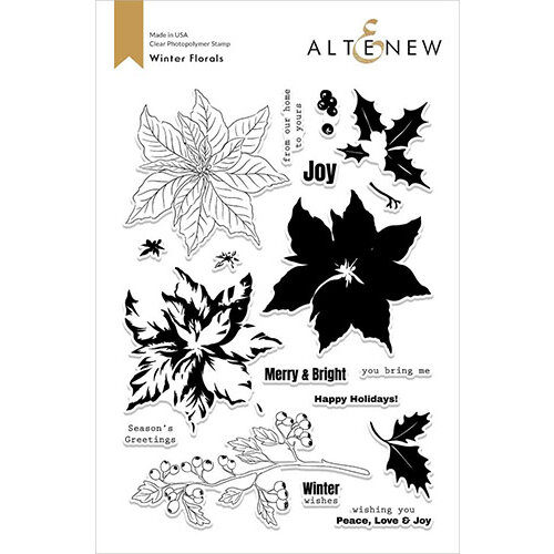 Altenew - Clear Photopolymer Stamps - Exclusive - Winter Florals