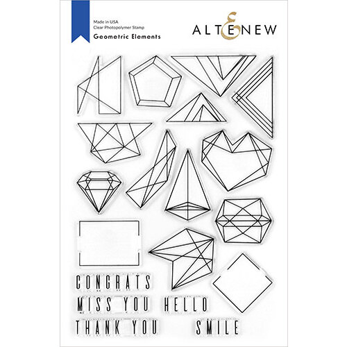 Altenew - Clear Photopolymer Stamps - Geometric Elements