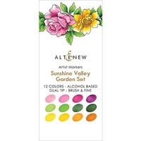 Altenew - Artist Markers - Set F - Sunshine Valley Garden